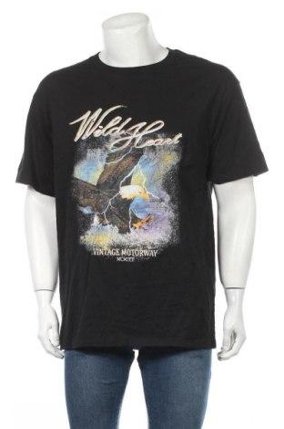 Ανδρικό t-shirt Supre, Μέγεθος S, Χρώμα Μαύρο, Τιμή 8,83€