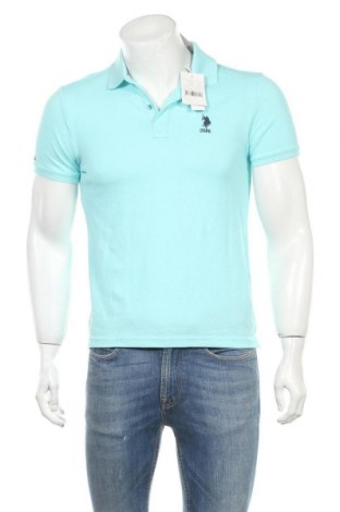 Мъжка тениска U.S. Polo Assn., Размер XS, Цвят Син, Памук, Цена 72,45лв.