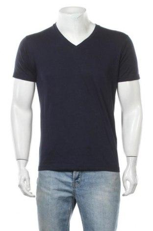 Мъжка тениска Uniqlo, Размер S, Цвят Син, 66% памук, 34% полиестер, Цена 18,95лв.