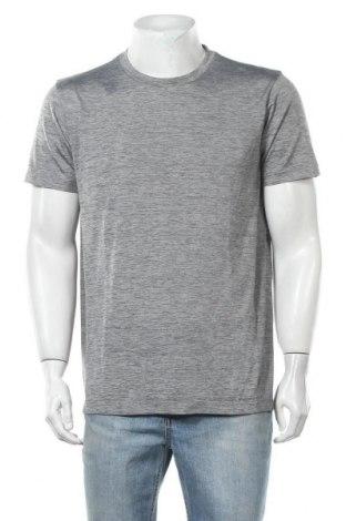 Мъжка тениска Uniqlo, Размер L, Цвят Сив, Полиестер, Цена 16,96лв.