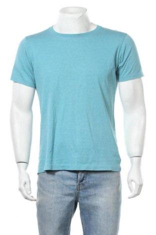Мъжка тениска Uniqlo, Размер M, Цвят Син, Памук, Цена 13,97лв.