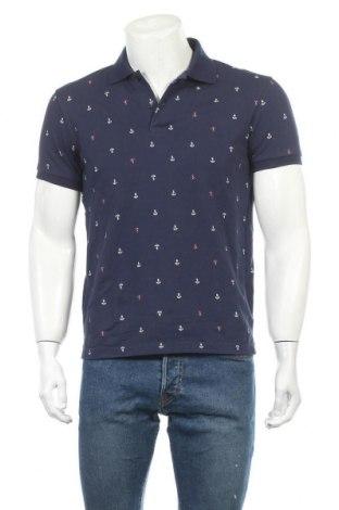 Мъжка тениска Uniqlo, Размер M, Цвят Син, 76% памук, 24% полиестер, Цена 18,90лв.