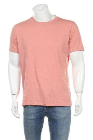 Мъжка тениска Uniqlo, Размер XL, Цвят Розов, Памук, Цена 15,96лв.