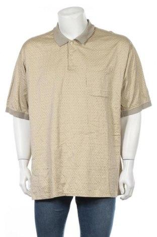 Мъжка тениска Van Heusen, Размер XXL, Цвят Бежов, Памук, Цена 4,20лв.