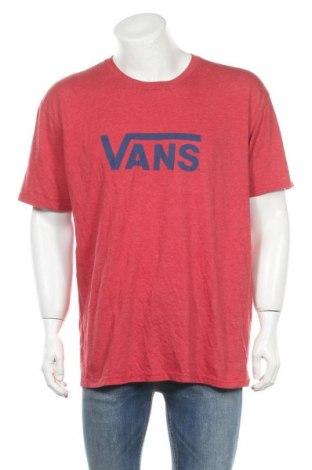 Мъжка тениска Vans, Размер XL, Цвят Червен, Памук, полиестер, Цена 17,85лв.