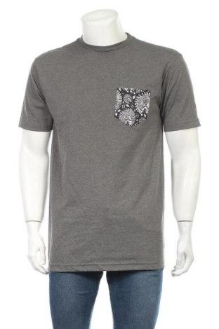 Мъжка тениска Volcom, Размер M, Цвят Сив, 50% памук, 50% полиестер, Цена 28,56лв.