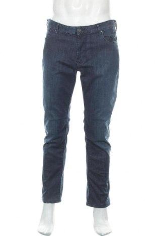 Мъжки дънки Emporio Armani, Размер L, Цвят Син, 88% памук, 4% еластан, 8% полиестер, Цена 175,45лв.