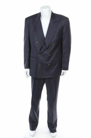 Мъжки костюм Missoni, Размер XL, Цвят Син, 86% вълна, 16% коприна, Цена 278,85лв.