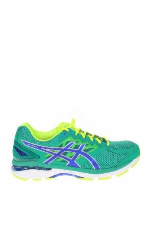 Ανδρικά παπούτσια ASICS, Μέγεθος 44, Χρώμα Πράσινο, Κλωστοϋφαντουργικά προϊόντα, Τιμή 61,47€