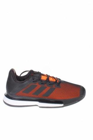 Ανδρικά παπούτσια Adidas, Μέγεθος 45, Χρώμα Μαύρο, Κλωστοϋφαντουργικά προϊόντα, δερματίνη, Τιμή 69,20€
