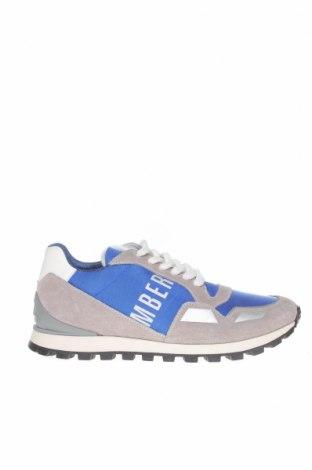 Мъжки обувки Bikkembergs, Размер 43, Цвят Сив, Естествен велур, текстил, Цена 216,75лв.