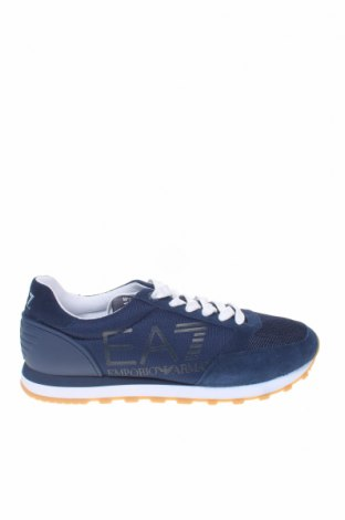 Ανδρικά παπούτσια Emporio Armani, Μέγεθος 42, Χρώμα Μπλέ, Φυσικό σουέτ, πολυουρεθάνης, κλωστοϋφαντουργικά προϊόντα, Τιμή 142,66€