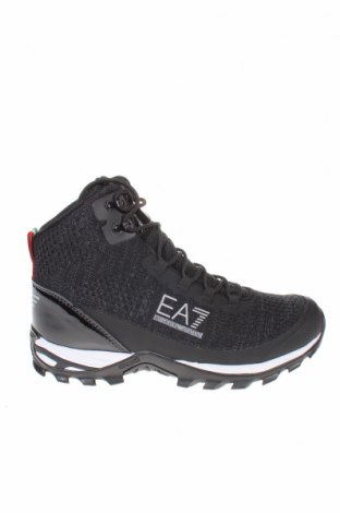 Ανδρικά παπούτσια Emporio Armani, Μέγεθος 43, Χρώμα Μαύρο, Κλωστοϋφαντουργικά προϊόντα, Τιμή 142,66€