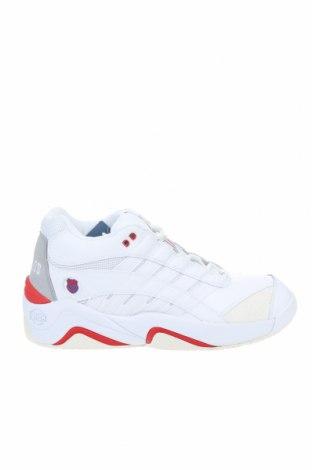 Мъжки обувки K.Swiss, Размер 49, Цвят Бял, Естествена кожа, текстил, естествен велур, Цена 85,50лв.