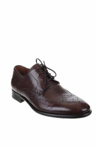Мъжки обувки Lottusse, Размер 38, Цвят Кафяв, Естествена кожа, Цена 164,25лв.