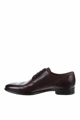 Мъжки обувки Lottusse, Размер 44, Цвят Кафяв, Естествена кожа, Цена 156,75лв.