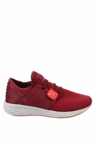 Мъжки обувки New Balance, Размер 42, Цвят Червен, Текстил, естествен велур, Цена 134,25лв.