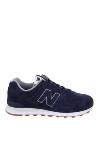 Мъжки обувки New Balance, Размер 43, Цвят Син, Естествен велур, Цена 141,75лв.