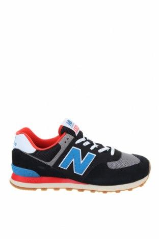 Мъжки обувки New Balance, Размер 44, Цвят Черен, Естествен велур, текстил, Цена 134,25лв.