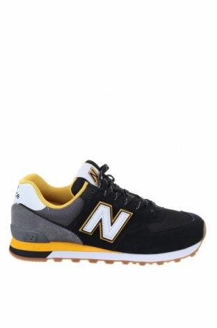 Мъжки обувки New Balance, Размер 42, Цвят Черен, Естествен велур, текстил, Цена 134,25лв.