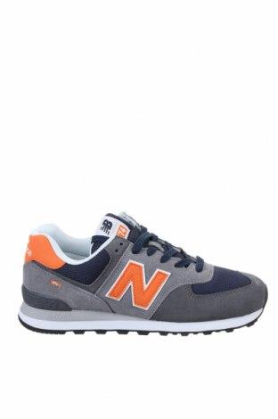 Мъжки обувки New Balance, Размер 43, Цвят Сив, Естествен велур, текстил, Цена 134,25лв.