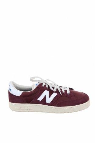 Мъжки обувки New Balance, Размер 44, Цвят Червен, Естествен велур, текстил, Цена 126,75лв.