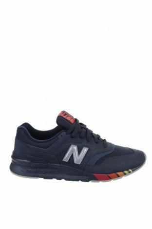 Мъжки обувки New Balance, Размер 42, Цвят Син, Текстил, еко кожа, Цена 134,25лв.