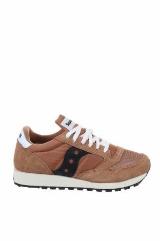 Мъжки обувки Saucony, Размер 42, Цвят Кафяв, Естествен велур, еко кожа, Цена 111,75лв.