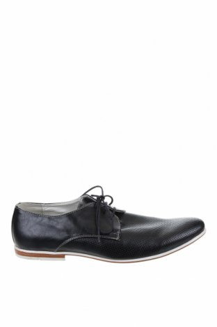 Ανδρικά παπούτσια Venice, Μέγεθος 44, Χρώμα Μαύρο, Γνήσιο δέρμα, Τιμή 33,12€