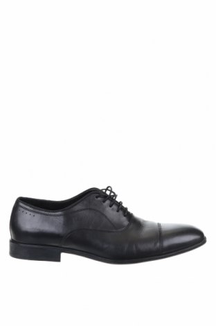 Мъжки обувки Zara Man, Размер 44, Цвят Черен, Еко кожа, Цена 44,10лв.