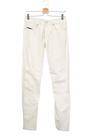 Pantaloni de bărbați Diesel Black Gold, Mărime XS, Culoare Ecru, 56% bumbac, 42% lyocell, 3% elastan, Preț 167,27 Lei