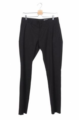 Мъжки панталон H&M, Размер S, Цвят Черен, 70% полиестер, 30% вискоза, Цена 23,25лв.