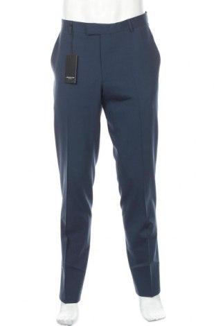 Мъжки панталон Lawrence Grey, Размер L, Цвят Син, 96% вълна, 4% еластан, Цена 100,10лв.