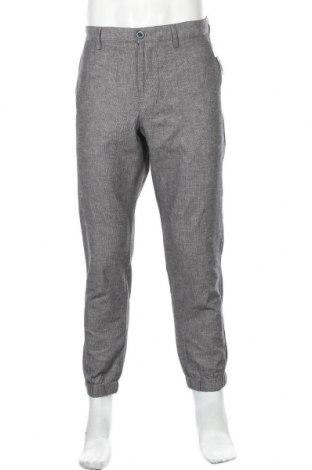 Мъжки панталон Rw & Co., Размер L, Цвят Сив, 69% памук, 31% лен, Цена 40,32лв.