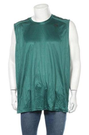 Ανδρική αμάνικη μπλούζα Adidas, Μέγεθος XXL, Χρώμα Πράσινο, Πολυεστέρας, Τιμή 16,37€