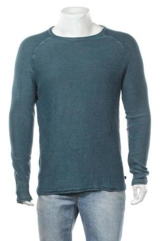 Мъжки пуловер Q/S by S.Oliver, Размер L, Цвят Зелен, Памук, Цена 15,87лв.
