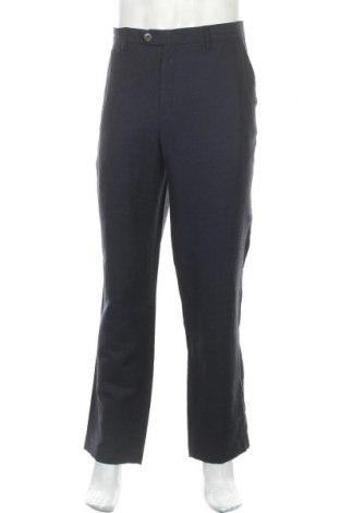 Ανδρικό παντελόνι Ted Baker, Μέγεθος XL, Χρώμα Μπλέ, 38% πολυεστέρας, 25% λινό, 25% βισκόζη, 12% μαλλί, Τιμή 13,18€