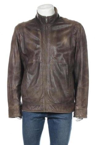 Ανδρικό δερμάτινο μπουφάν, Μέγεθος XL, Χρώμα Καφέ, Γνήσιο δέρμα, Τιμή 57,15€