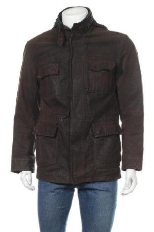Мъжко кожено яке Angelo Litrico, Размер M, Цвят Кафяв, Естествена кожа, Цена 23,10лв.
