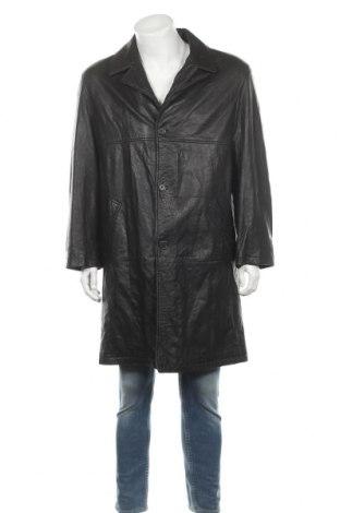 Мъжко кожено яке Barisal, Размер L, Цвят Черен, Естествена кожа, Цена 37,74лв.