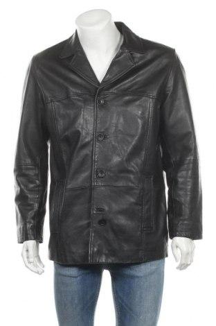 Ανδρικό δερμάτινο μπουφάν Gipsy, Μέγεθος L, Χρώμα Μαύρο, Γνήσιο δέρμα, Τιμή 30,46€
