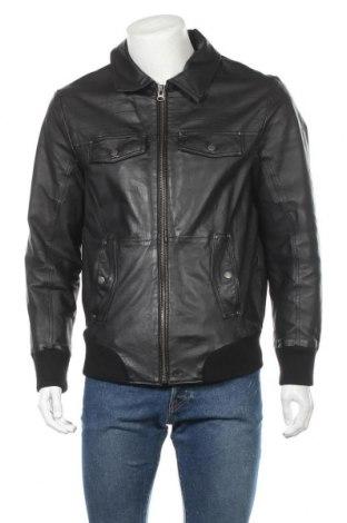 Pánská kožená bunda  Tom Tailor, Velikost L, Barva Černá, Pravá kůže, Cena  842,00Kč