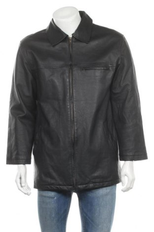 Мъжко кожено яке Woodpecker, Размер L, Цвят Черен, Естествена кожа, Цена 74,76лв.