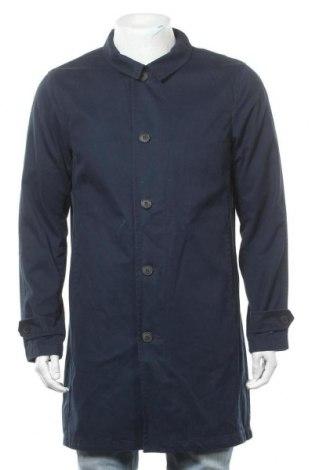 Ανδρικά παλτό Selected Homme, Μέγεθος M, Χρώμα Μπλέ, Βαμβάκι, Τιμή 43,56€