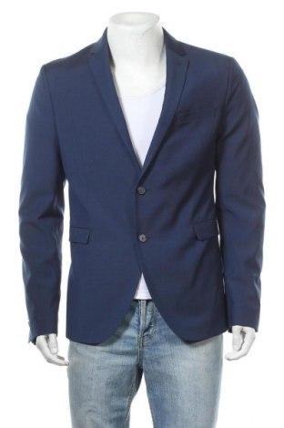 Мъжко сако Cinque, Размер M, Цвят Син, 63% памук, 37% вискоза, Цена 209,25лв.