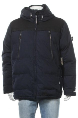 Мъжко яке Khujo, Размер L, Цвят Син, 65% памук, 35% полиестер, Цена 85,80лв.