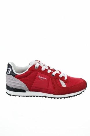 Обувки Pepe Jeans, Размер 42, Цвят Червен, Текстил, естествен велур, Цена 126,75лв.