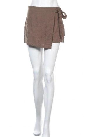 Пола - панталон SHEIN, Размер M, Цвят Кафяв, Памук, Цена 21,74лв.