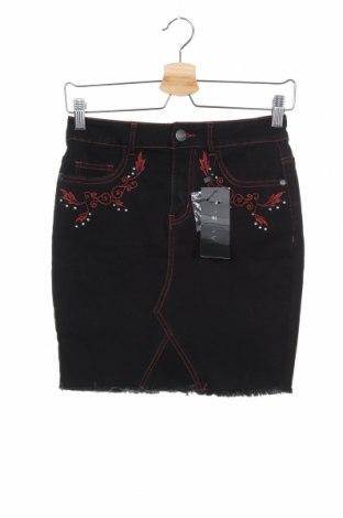 Пола Amisu, Размер XS, Цвят Черен, 75% памук, 24% полиестер, 1% еластан, Цена 39,90лв.