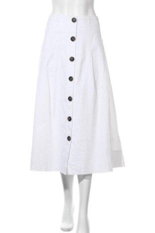 Пола Christian Berg, Размер M, Цвят Бял, 55% лен, 45% памук, Цена 51,75лв.